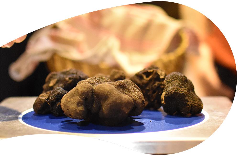 Une pesée de truffes